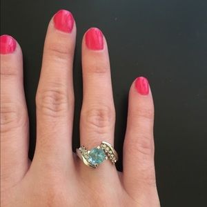 New Blue topaz Sterling silver ring Size 6